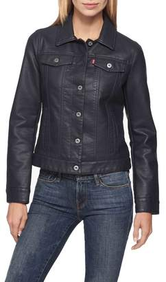 Levi's Faux Leather Button Up Jacket