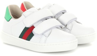Gucci Kids Web leather sneakers