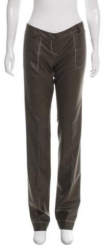 Christian Dior Wool Low-Rise Pants