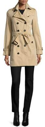 Burberry The Sandringham - Mid-Length Slim Fit Heritage Trench Coat, Honey $1,795 thestylecure.com