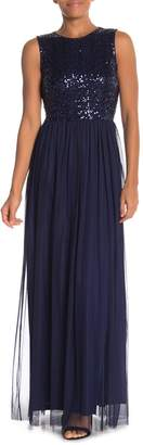 Marina Embroidered Sleeveless Gown