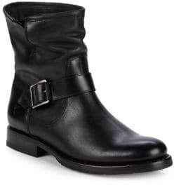 Frye Natalie Engineer Leather Moto Boots