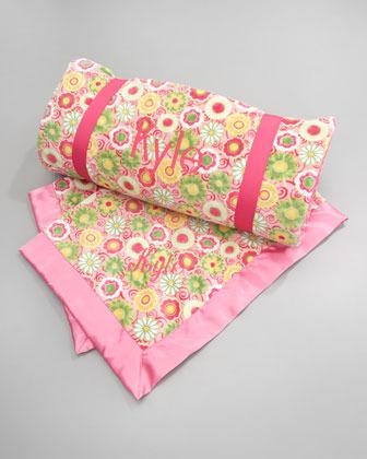 Swankie Blankie Pink Posy Toddler Blanket, Plain