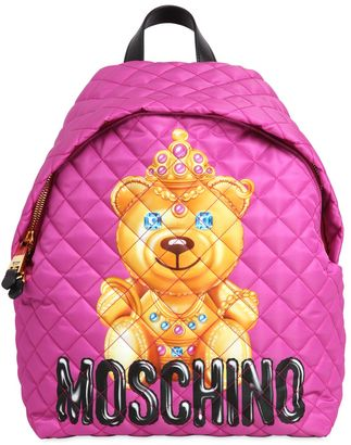 Large Teddy Bear Quilted Nylon Backpack $625 thestylecure.com