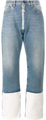 Off-White contrast cuff jeans