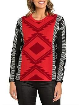 Marc O'Polo Marco Polo Long Sleeve Aztec Sweater
