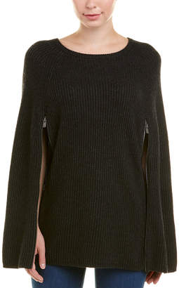 Autumn Cashmere Ribbed Cashmere & Wool-Blend Cape
