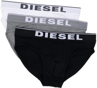 Diesel logo three pack briefs