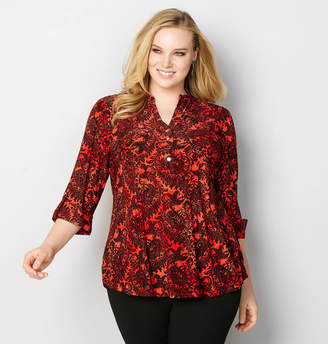 Avenue Paisley Jacquard Pleated Top