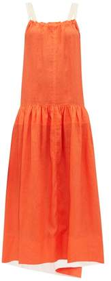 Lee Mathews - Hana Open Back Linen Maxi Dress - Womens - Orange
