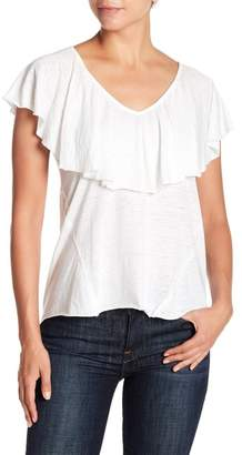 Lucky Brand Ruffle Popover Burnout Tee