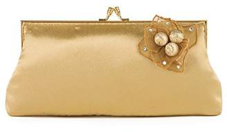 Farfalla Womens 90591 Clutch Gold