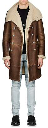 Balmain Men's Shearling Double-Breasted Coat