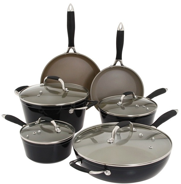 Fagor Michelle B. by 10pc. Cookware Set (Black) - Home