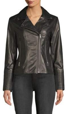 Soia & Kyo Leather Moto Jacket