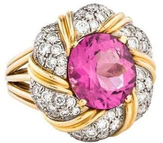 Verdura Tourmaline & Diamond Cocktail Ring