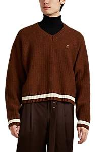 Undercover Men's Logo Wool Boxy Sweater - Rust