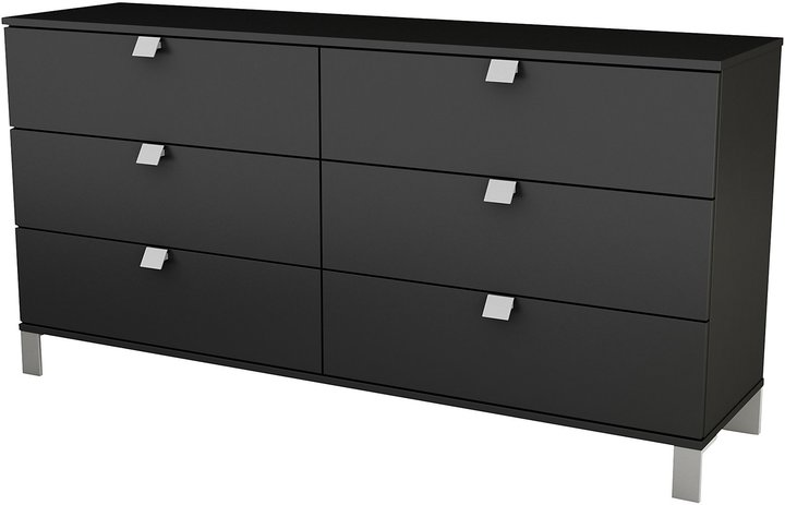 Green Baby South Shore Spark Collection 6-Drawer Dresser - Solid Black