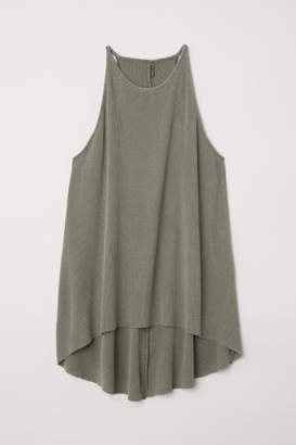 H&M Ribbed Jersey Camisole Top - Green