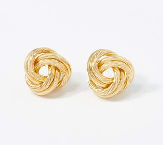 Gold One 1KT Gold Bold Love Knot Stud Earrings