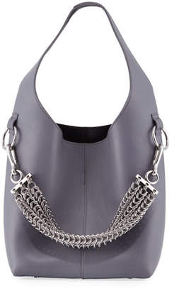 Alexander Wang Genesis Box Chain Mini Hobo Bag, Washed Denim