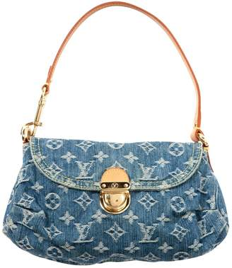 Louis Vuitton Blue Denim - Jeans Clutch Bag
