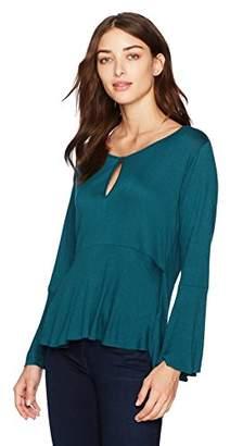 Lucky Brand Women's Bell Sleeve Top