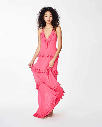 Nicole Miller Ruffle Tiered Gown