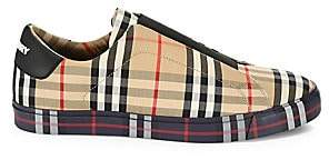 Burberry Men's Markham Check Slip-On Sneakers