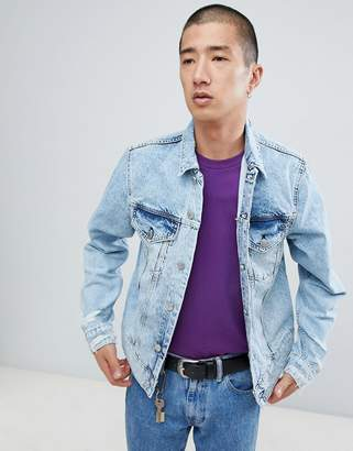 Cheap Monday Legit Denim Jacket In Light Blue