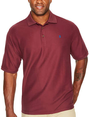 Izod Short Sleeve Advantage Solid Pique Polo Shirt- Big & Tall