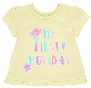 George My First Holiday Slogan T-Shirt