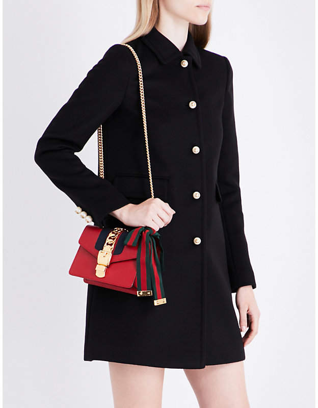Gucci Contrast button-detail wool coat