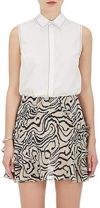Derek Lam 10 Crosby Women's Cotton Poplin Sleeveless Shirt $325 thestylecure.com
