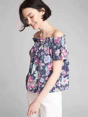 Gap Short Sleeve Off-Shoulder Top