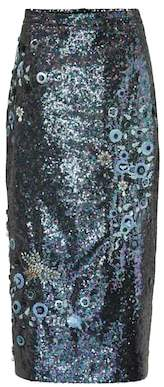 Erdem Sacha sequined pencil skirt