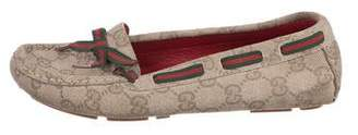 Gucci GG Canvas Striped Loafers