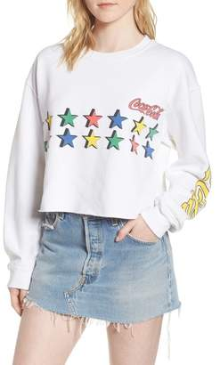 Junk Food Clothing Coke Stars Crop Sweatshirt