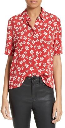 Women's The Kooples Floral Print Silk Shirt $280 thestylecure.com