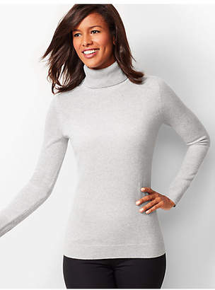 Talbots Cashmere Turtleneck Sweater - Shimmer