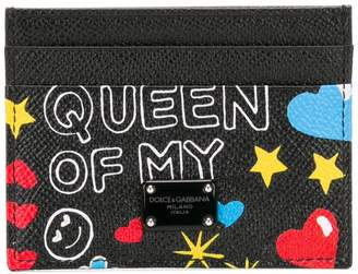 Dolce & Gabbana Mural print card holder