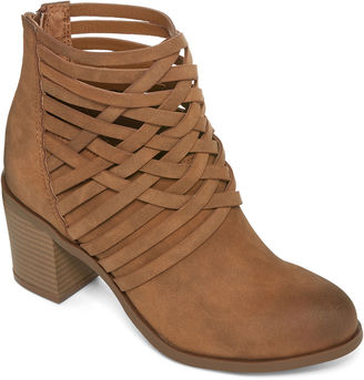 ARIZONA Arizona Orlando Woven Ankle Booties $70 thestylecure.com
