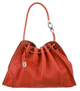 Tod's Grained Leather Hobo Orange Grained Leather Hobo