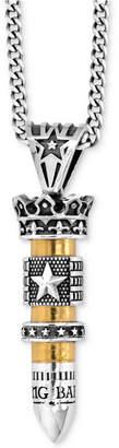 King Baby Studio Men's Bullet Pendant Necklace in Sterling Silver & Brass