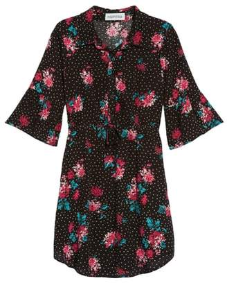 Mia Chica Polka Dot Floral Dress