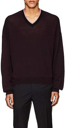 Lanvin Men's V-Neck Wool Sweater