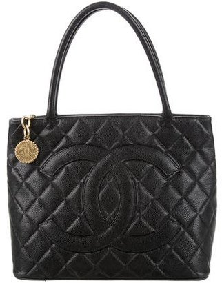 Chanel Quilted Caviar Medallion Tote $1,225 thestylecure.com
