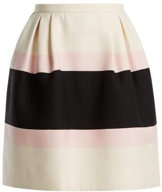 aeaec03f5887 Valentino Baiadera Stripe Silk Crepe Skirt - Womens - Pink Multi