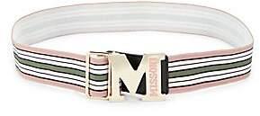 M Missoni Women's Striped Logo Belt