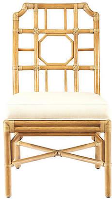 Selamat Eloise Rattan Side Chair - Nutmeg/Ivory